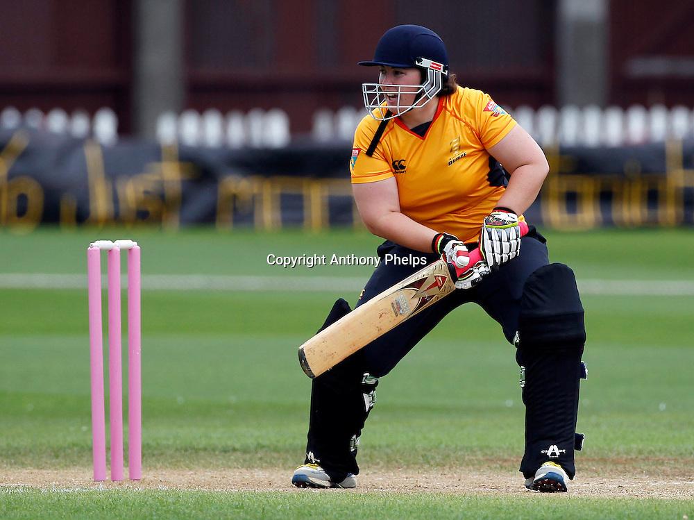 Wellingtron's Megan Wakefield, Action Cricket Twenty20 Final, Blaze v Magicians. Basin Reserve, Wellington. Saturday 5 February 2011. Photo: Anthony Phelps/PHOTOSPORT