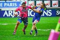 Zak Sakaria TAULAFO / Fabien ALEXANDRE - 14.03.2015 - Stade Francais / Grenoble -  20eme journee de Top 14<br /> Photo : David Winter  / Icon Sport<br /> <br />   *** Local Caption ***