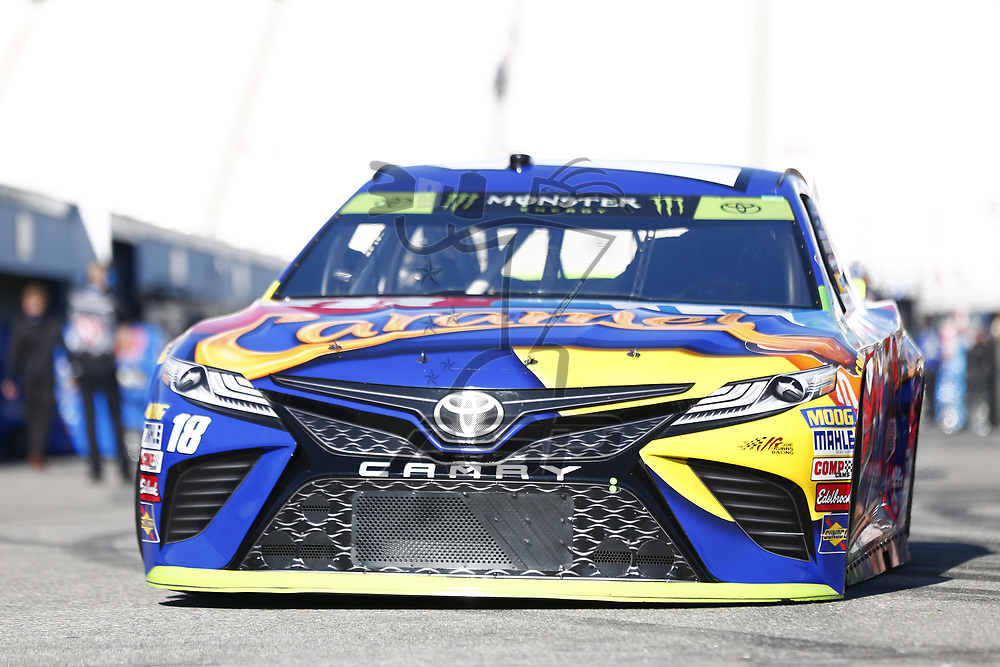 September 23, 2017 - Loudon, New Hampshire, USA: Kyle Busch (18) takes to the track to practice for the ISM Connect 300 at New Hampshire Motor Speedway in Loudon, New Hampshire.
