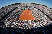 Paris, France. May 29th 2009. .Roland Garros - Tennis French Open. 3rd Round..Rafael Nadal (bottom) against Lleyton Hewitt