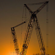 Liebherr Cranes at Sunrise