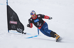 Karl Benjamin during the FIS snowboarding world cup race in Rogla (SI / SLO) | GS on January 20, 2018, in Jasna Ski slope, Rogla, Slovenia. Photo by Urban Meglic / Sportida