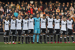 December 23, 2017 - Valencia, Spain - Martin Montoya, Andreas Pereira, Simone Zaza, Dani Parejo, Ezequiel Garay, Neto, Gabriel Paulista, Kondogbia, Rodrigo Moreno, Lato, Guedes during the match between Valencia CF against Villarreal CF , week 17 of  La Liga 2017/18 at Mestalla stadium, Valencia, SPAIN - 17th December of 2017. (Credit Image: © Jose Breton/NurPhoto via ZUMA Press)