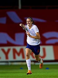 NEWPORT, WALES - Friday, August 31, 2018: England's Jill Scott celebrates scoring the second goal during the FIFA Women's World Cup 2019 Qualifying Round Group 1 match between Wales and England at Rodney Parade. (Pic by David Rawcliffe/Propaganda)