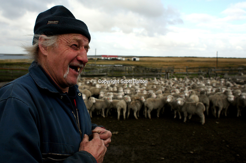 Keith Heathman at a sheep ranch in Goose Green, in the Falkland Islands, on Friday, March 23, 2007. This year is the 25 anniversary of the war for sovereignty of the islands between the United Kingdom and Argentina. The two-month war resulted in the withdrawal of Argentinean forces and the islands remained part of the United Kingdom. After the war on the islands there has been strong economic development. (Photo/Scott Dalton)