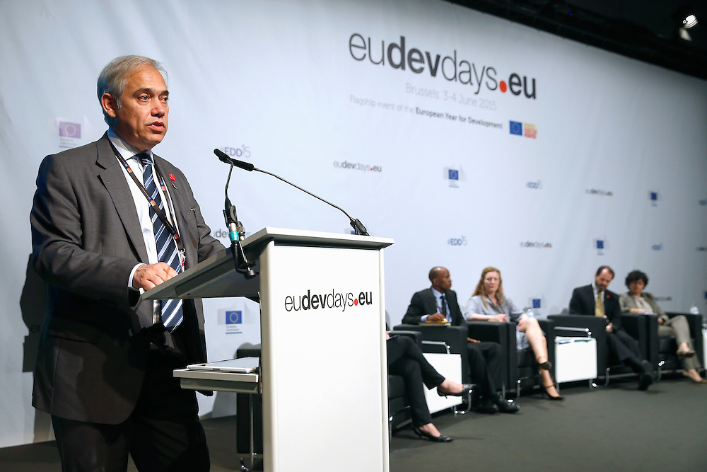04 June 2015 - Belgium - Brussels - European Development Days - EDD - Growth , jobs and partnership with business - How to make a difference together in contributing to a sustainable and inclusive growth agenda - Fernando Frutuoso de Melo , Director General , Directorate-General for International Cooperation and Development , European Commission © European Union