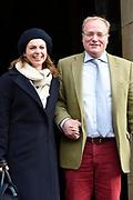 Prinses Beatrix geeft in het Koninklijk Paleis in Amsterdam een verjaardagsontvangst voor familie, vrienden en bekenden. Prinses Beatrix werd afgelopen woensdag tachtig jaar en vierde haar verjaardag in besloten kring.<br /> <br /> Princess Beatrix gives a birthday reception for family, friends and acquaintances at the Royal Palace in Amsterdam. Princess Beatrix was eighty years old last Wednesday and fourth birthday in private.<br /> <br /> Op de foto / On the photo: Prins Carlos en prinses Annemarie /// Prince Carlos and Princess Annemarie