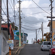 JULY 21, 2018---ARECIBO, PUERTO RICO---<br /> This street leading to the center of town of Arecibo was flooded during the path of Hurricane Maria.<br /> (Photo by Angel Valentin/Freelance)
