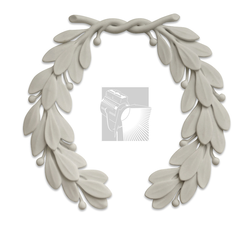 Laurel wreath carved in stone