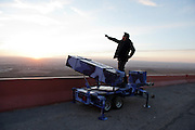 Angel Cabrales, an art professor at UTB-TSC, takes border defense to the extreme with personal drones, home edition Patriot missile launchers and Flan tipped bombs.<br /> Here he 'defends' the Us from the safety of the mountains of El Paso.
