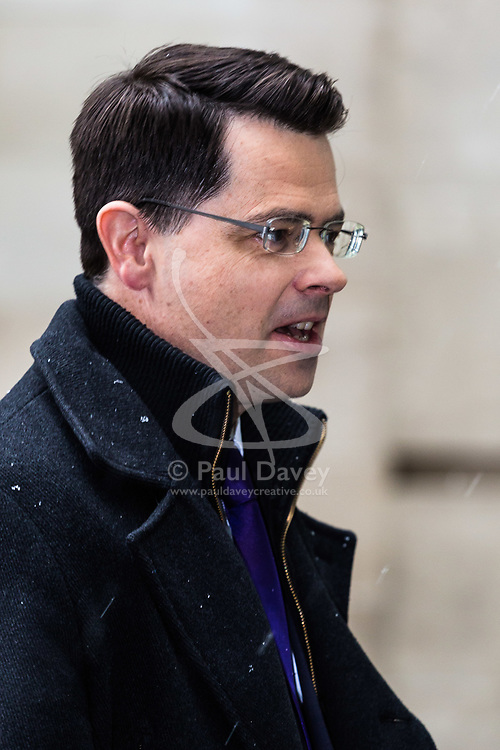 London, December 10 2017. Secretary of State for Northern Ireland James Brokenshire arrives at the BBC's Broadcasting House in London to appear The Sunday Politics Show. © Paul Davey
