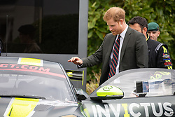 As part of today's visit to The  Training Centre Royal Marines, Lympstone. Prince Harry's  met the Invictus Games Racing Team. The Team was the brainchild of James Holder, Co founder of  clothing brand Superdry.<br /> <br /> <br />13 September 2018.<br /><br />Please byline: Vantagenews.com/Upright PR