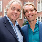 NLD/Amsterdam/20190910 - Lancering Platform Celebabs, Tim Ouborg met zijn vader Aad Ouburg