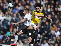 Brentford Jonathan Douglas, Derby County v Brentford, Sy Bet Championship, IPro Stadium, Saturday 11th April 2015. Score 1-1,  (Bent 92) (Pritchard 28)<br /> Att 30,050