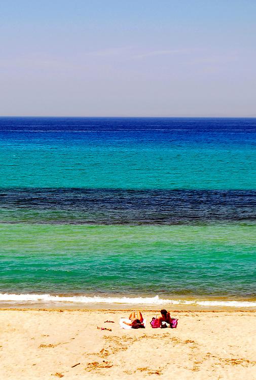The bay at Armenistis village, Ikaria island, North Aegean sea, Greece.