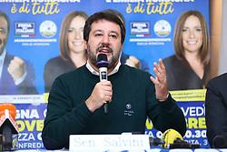 Foto Filippo Rubin<br /> 07/11/2019 Bologna (Italia)<br /> Cronaca Politica<br /> Presentazione campagna elettorale Lucia Borgonzoni candidata Lega - Hotel Savoia Regency<br /> Nella foto: Matteo Salvini <br /> <br /> Photo by Filippo Rubin<br /> November 07th, 2019 Bologna (Italy)<br /> News <br /> Lucia Borgonzoni and Matteo Salvini - Hotel Savoia Regency <br /> In the pic: Matteo Salvini