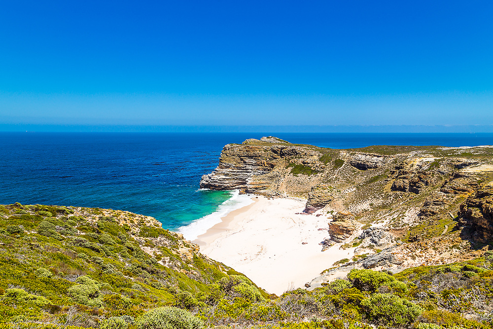 A picture of the Cape of Good Hope and Diaz Beach.