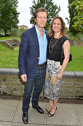 KEVIN & SOPHIA ARNOLD at an Evening at The River Cafe in aid of the NSPCC held at The River Cafe, Thames Wharf, Rainville Road, London on 19th June 2016