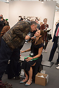 JOHNNY PIGOZZI; JULIA ZAOUK, Opening of Frieze , Regents Park, London 12 October 2015