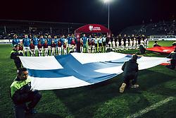 October 9, 2017 - Turku, Finland - The flag of Finland during the FIFA World Cup 2018 qualification football match between Finland and Turkey in Turku, Finland on October 9, 2017. (Credit Image: © Antti Yrjonen/NurPhoto via ZUMA Press)