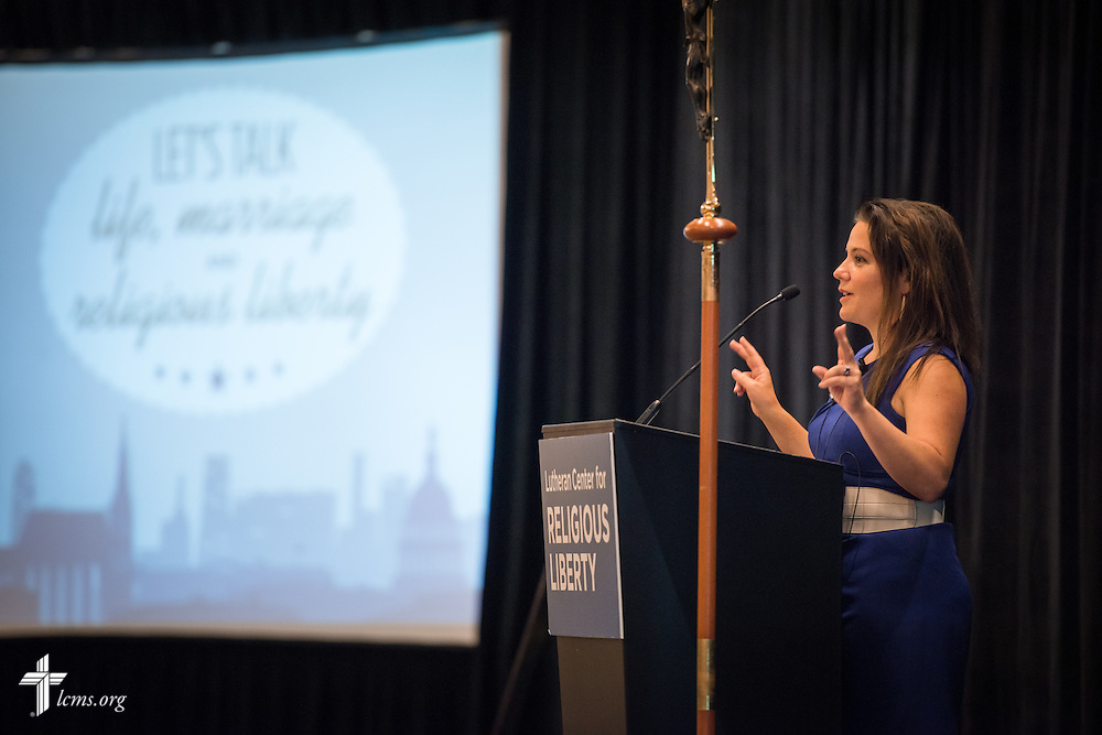 Mollie Ziegler Hemingway, senior editor at The Federalist, speaks during the Let's Talk Life, Marriage and Religious Liberty event on Tuesday, September 8, 2015, in Washington, D.C. LCMS Communications/Erik M. Lunsford