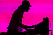 Kasabian play the pyramid stage. The 2014 Glastonbury Festival, Worthy Farm, Glastonbury. 29 June 2013.  Guy Bell, 07771 786236, guy@gbphotos.com
