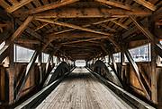 Taftville covered bridge, Woodstock, Vermont, USA