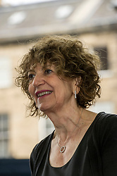 Pictured: Susie Orbach is a British psychotherapist, psychoanalyst, writer and social critic. Her first book, Fat is a Feminist Issue, analysed the psychology of dieting and over-eating in women<br /> <br /> Book fanatics headed to Charlotte Square in Edinburgh which is the hub of the international Book Festival to meet the authors and also to meet up with fellow fans of the printed word.<br /> <br /> <br /> Ger Harley | EEm 21 August 2017