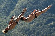 Team ITALY - AUBER Gabriele MARSAGLIA Lorenzo<br /> Bolzano, Italy <br /> 22nd FINA Diving Grand Prix 2016 Trofeo Unipol<br /> Diving<br /> Men's 3m synchronised springboard final<br /> Day 03 17-07-2016<br /> Photo Giorgio Perottino/Deepbluemedia/Insidefoto