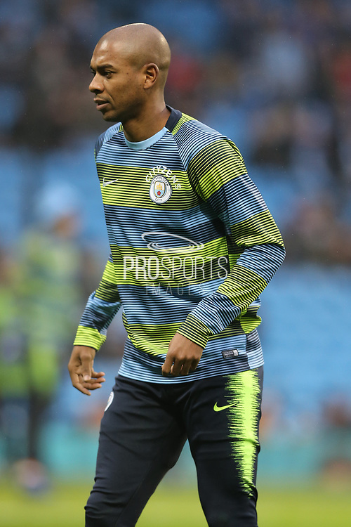 25 Fernandinho for Manchester City during the The FA Cup 3rd round match between Manchester City and Rotherham United at the Etihad Stadium, Manchester, England on 6 January 2019.