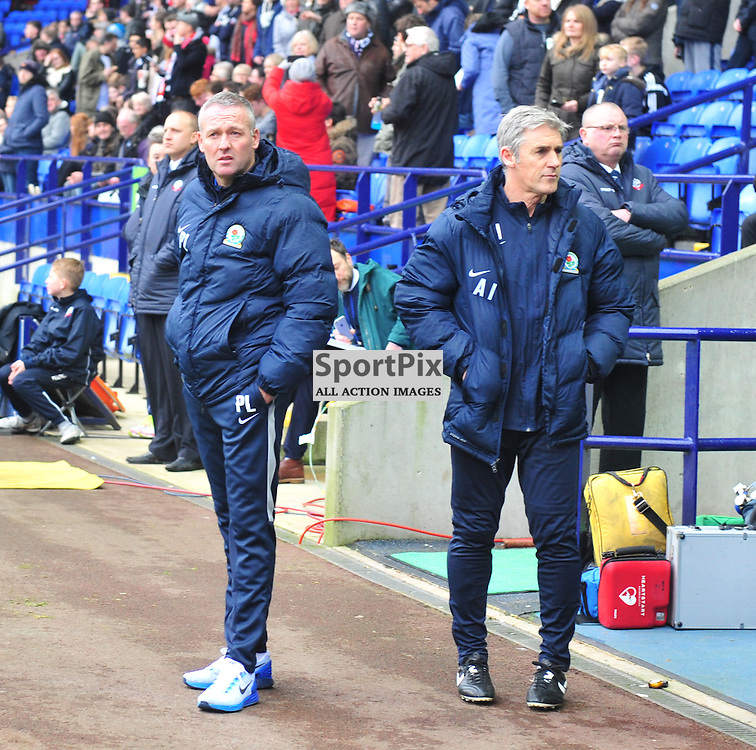 Where is my mate as Rovers manager Paul Lambert looks to find old time Celtic colleague Neil Lennon.....(c) BILLY WHITE | SportPix.org.uk