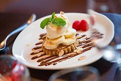 Tam Cowan's restaurant review at The Place Hotel, 34-38 York Place, Edinburgh. The banoffi pie.