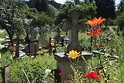 Sucevita Monastery, Bucovina, UNESCO World Heritage Site, Romania, The cemetery