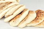 Freshly baked handmade pita bread