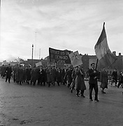Unemployed Protest March in Dublin<br /> 03/04/1957