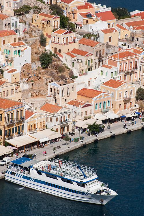 Admire the architecture of Symi. Symi Island, Dodecanese, Greece