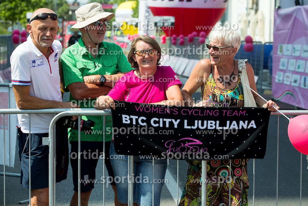 Fans  after the Stage 1 (102,5 km) from Kamnik to Ljubljana at 26th Giro Rosa 2015 Women cycling race, on July 4, 2015 in BTC City, Ljubljana,  Slovenia. Photo by Vid Ponikvar / Sportida