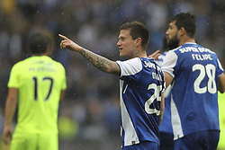 April 8, 2018 - Porto, Aveiro, Portugal - Porto's Brazilian midfielder Otavio celebrates after scoring goal during the Premier League 2017/18 match between FC Porto v CD Aves, at Dragao Stadium in Porto on April 8, 2018. (Credit Image: © Dpi/NurPhoto via ZUMA Press)