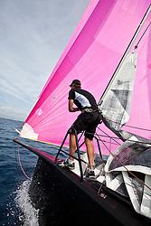 Palma Vela, Palma de Mallorca, Spain (21-24 April 2011) Practice onboard Jethou. © Sander van der Borch / Gaastra