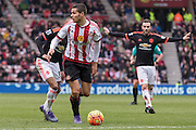 Sunderland's Midfielder Jack Rodwell  in action during the Barclays Premier League match between Sunderland and Manchester United at the Stadium Of Light, Sunderland, England on 13 February 2016. Photo by George Ledger.