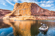 Skiing Reflection Canyon at Lake Powell