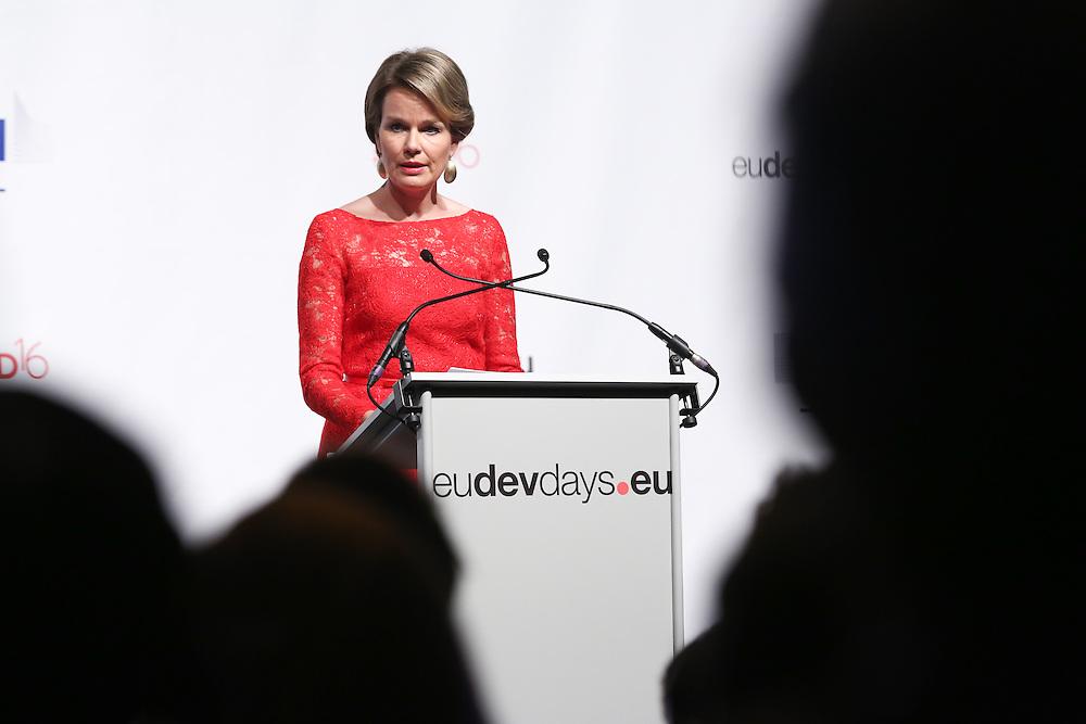 20160616 - Brussels , Belgium - 2016 June 16th - European Development Days - Special address from Her Majesty Mathilde the Queen of Belgians - HM Mathilde, the Queen of Belgians © European Union