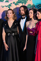 Carole Bouquet, Dimitri Rassam, Charlotte Casiraghi and Tatiana Casiraghi attend the Rose Ball 2019 at Sporting in Monaco, Monaco on March 30, 2019. Photo by Stephane Cardinale-Pool/ABACAPRESS.COM