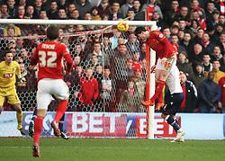 Oliver Burke of Nottingham Forest (C) scores his sides second goal - Mandatory byline: Jack Phillips/JMP - 16/01/2016 - FOOTBALL - The City Ground - Nottingham, England - Nottingham Forest v Bolton Wonderers - {event}
