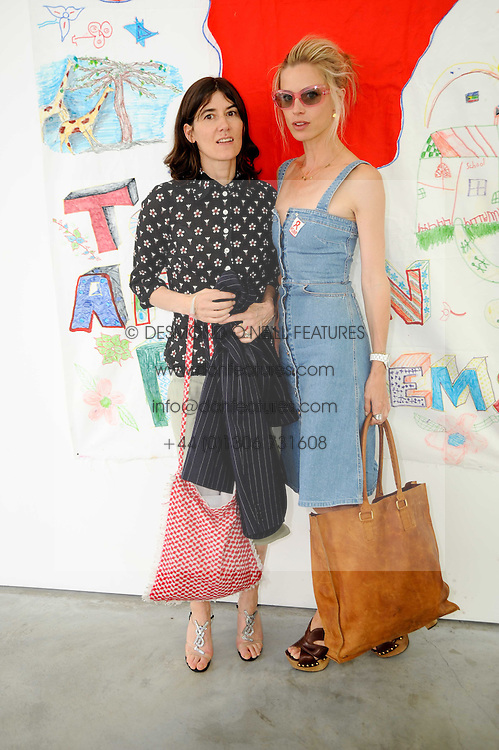 Left to right, BELLA FREUD and LAURA BAILEY at a charity lunch organised in aid of ASAP (African Solutions to African Problems) held at the Louise T Blouin Foundation, 3 Olaf Street, London W11 on 23rd June 2010.
