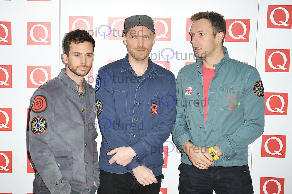 Coldplay..Q Awards at the Grosvenor House Hotel, London, UK. 24 October 2011. Contact rich@piqtured.com +44(0)7941 079620(Picture by Awais Butt)