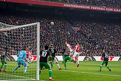 21-01-2018 NED: AFC Ajax - Feyenoord, Amsterdam<br /> Ajax was met 2-0 te sterk voor Feyenoord / Matthijs de Ligt #4 of AFC Ajax, Joel Veltman #3 of AFC Ajax