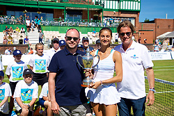LIVERPOOL, ENGLAND - Sunday, June 24, 2018: Miguel Queipo, Amalia restaurant, Corinna Dentoni (ITA) and Tournament director Anders Borg during day four of the Williams BMW Liverpool International Tennis Tournament 2018 at Aigburth Cricket Club. (Pic by Paul Greenwood/Propaganda)