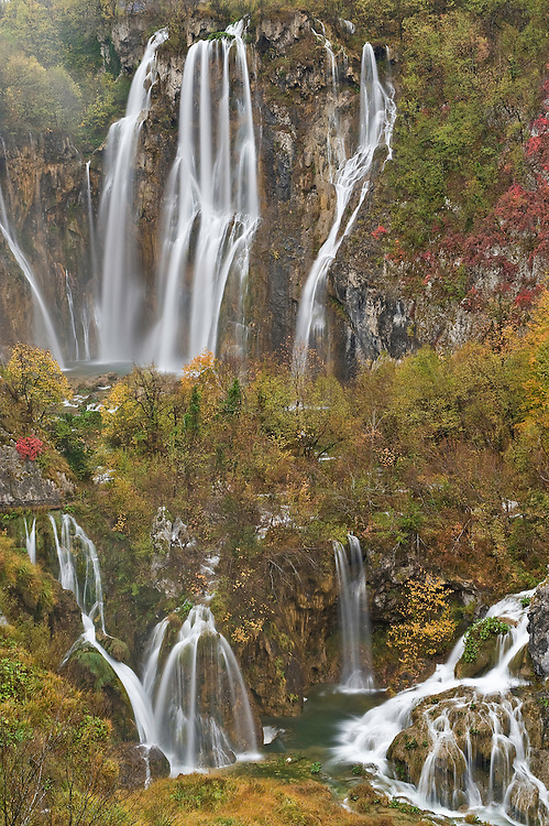 Plitvicka Slap and Sastavci waterfalls Plitvice National Park, Croatia