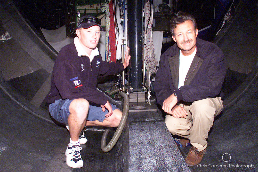 America's Cup winner John Bertrand and Young Australia skipper James Spithill 1999
